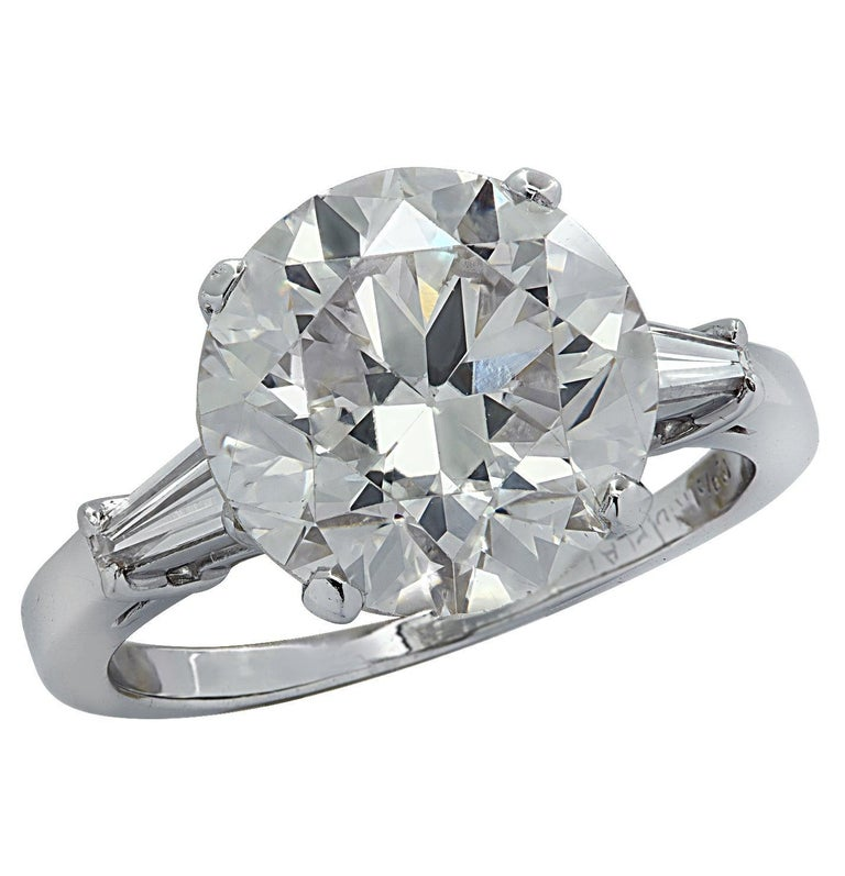 Vivid Diamonds GIA Certified 4.87 Carat Diamond Engagement Ring For Sale