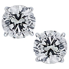 Vivid Diamonds GIA Certified 5 Carat Diamond Stud Earrings