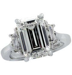 Vivid Diamonds GIA Certified 5 Carat Emerald Cut Engagement Ring