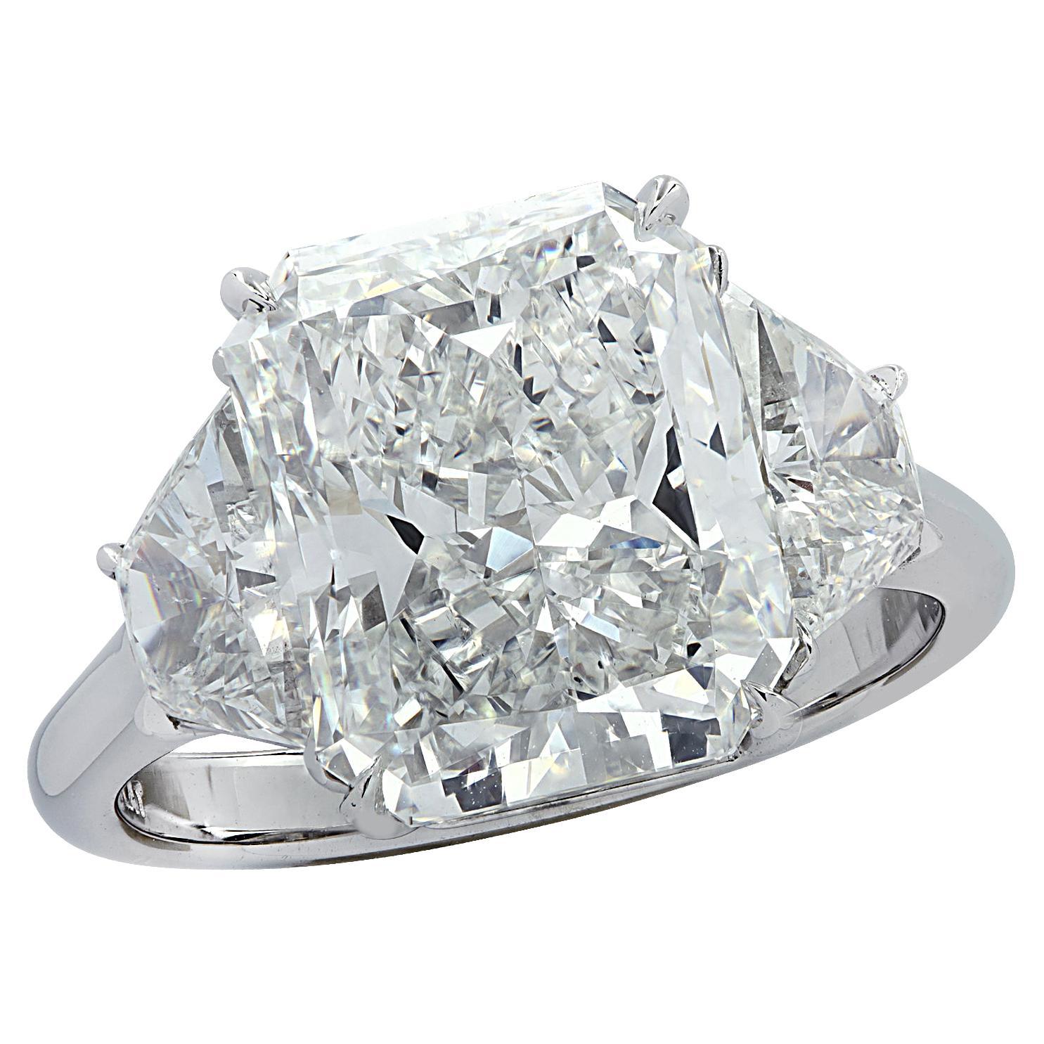 Vivid Diamonds GIA Certified 5.33 Carat Radiant Diamond Engagement Ring
