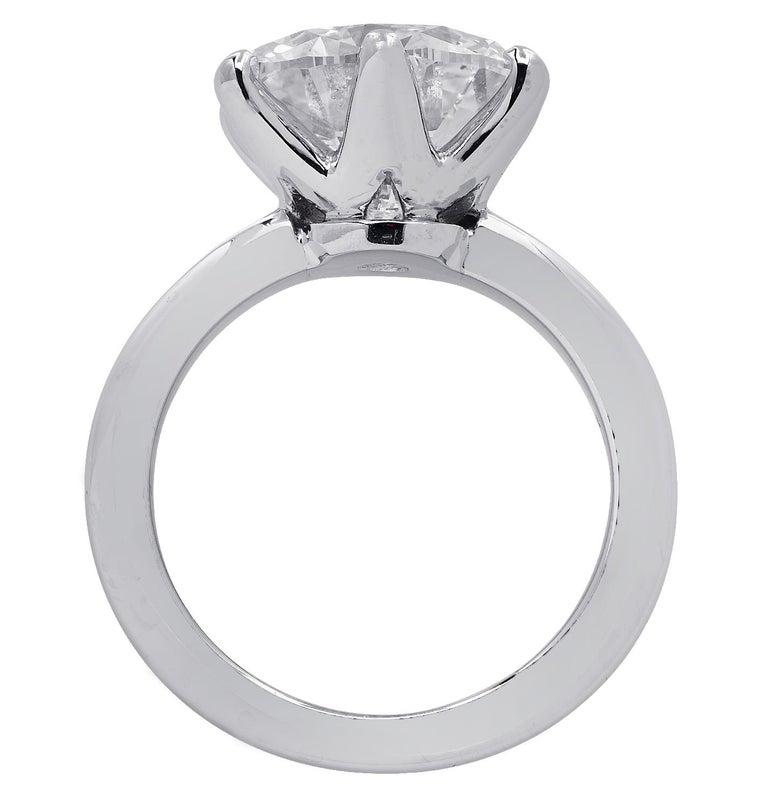 Modern Vivid Diamonds GIA Certified 5.60 Carat Diamond Engagement Ring For Sale