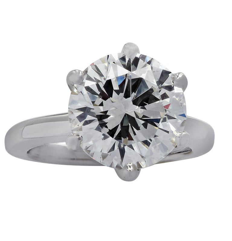 Vivid Diamonds GIA Certified 5.60 Carat Diamond Engagement Ring In New Condition For Sale In Miami, FL