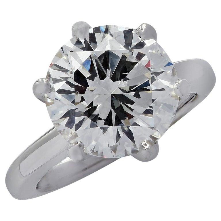 Vivid Diamonds GIA Certified 5.60 Carat Diamond Engagement Ring For Sale
