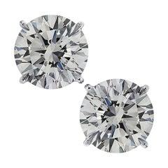 Vivid Diamonds GIA Certified 6.01 Carat Diamond Solitaire Stud Earrings