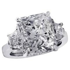 Vivid Diamonds GIA Certified 6.02 Carat Diamond Engagement Ring