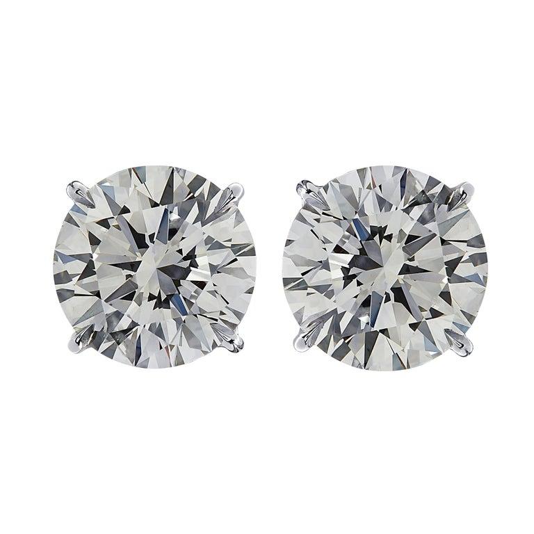 Vivid Diamonds GIA Certified 6.10 Carat Diamond Stud Earrings In New Condition In Miami, FL