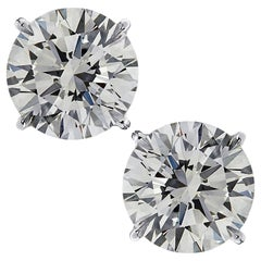 Vivid Diamonds GIA Certified 6.10 Carat Diamond Stud Earrings
