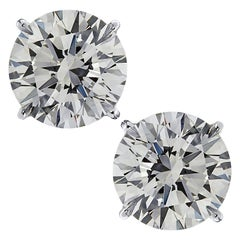 Vivid Diamonds GIA Certified 6.14 Carat Diamond Stud Earrings