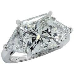 Vivid Diamonds GIA Certified 7.03 Carat Princess Cut Diamond Engagement Ring