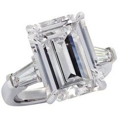 Vivid Diamonds GIA Certified 7.59 Carat Emerald Cut Engagement Ring
