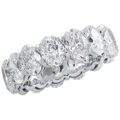 Vivid Diamonds GIA Certified 7.90 Carat Oval Eternity Band