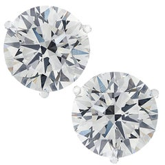 Vivid Diamonds GIA Certified 8.13 Carat Diamond Stud Earrings