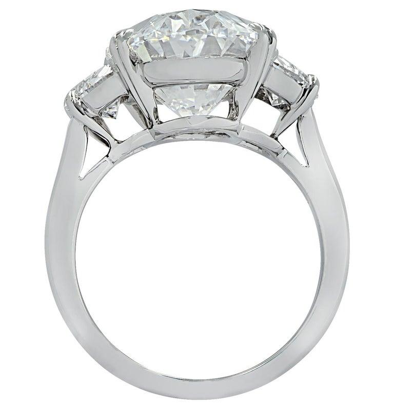 Modern Vivid Diamonds GIA Certified 8.87 Carat Oval Diamond Engagement Ring For Sale
