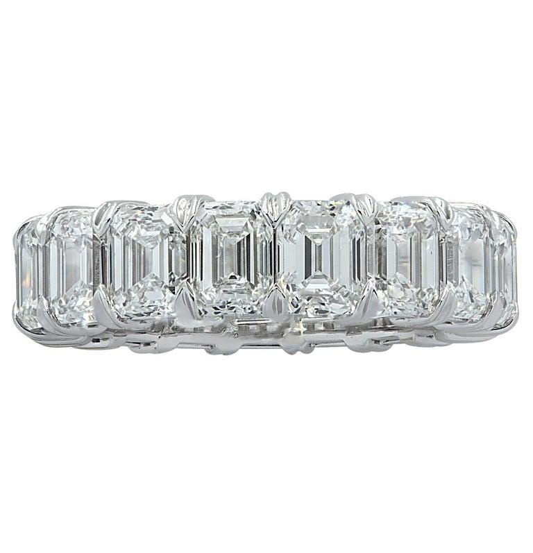 Vivid Diamonds GIA Certified 9.03 Carat Diamond Eternity Band In New Condition For Sale In Miami, FL