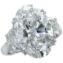 Vivid Diamonds GIA Certified 9.03 Carat Oval Diamond Engagement Ring