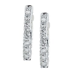 Vivid Diamonds In and Out 1.57 Carat Diamond Hoops
