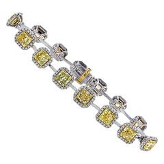Vivid Diamonds Yellow and White Diamond Bracelet