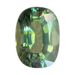 Vivid Green Thai Sapphire 1.19ct Cushion Cut Loose Gem