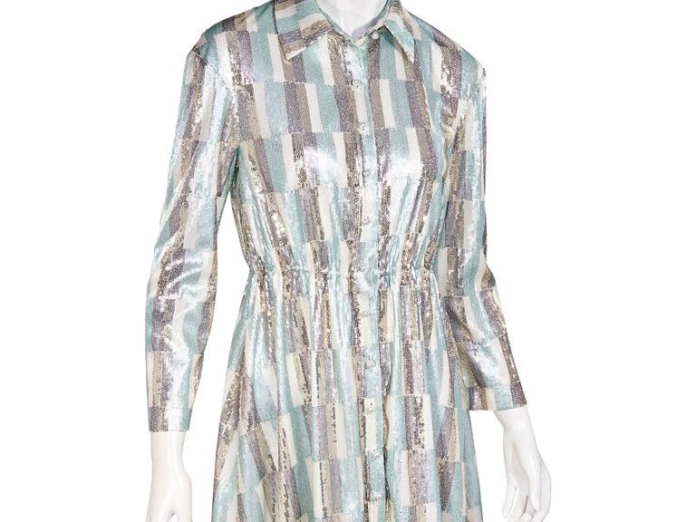 Women's Vivienne Hu Multicolor Sequined Shirtdress For Sale
