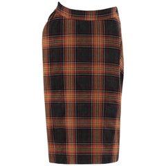 "VIVIENNE WESTWOOD ""Anglomania"" c.1990's Tartan Plaid Draped Bustle Skirt"