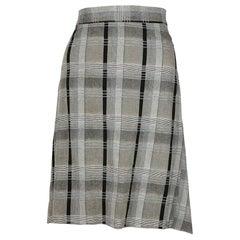 Vivienne Westwood Anglomania Grey and Black Plaid Skirt