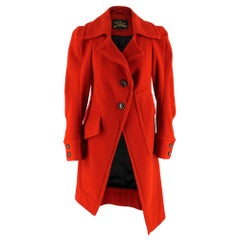 Vivienne Westwood Anglomania Red Wool Asymmetric Coat SIZE 42