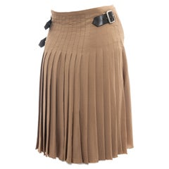 Vivienne Westwood beige silk chiffon pleated wrap skirt, fw 2003