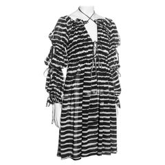 Vivienne Westwood black and white striped cotton gathered dress, ss 1996