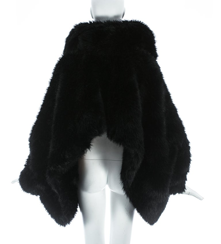 Vivienne Westwood black faux fur oversized cropped jacket, A/W 1993 For Sale 2