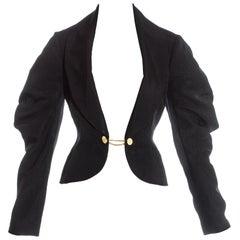 Vivienne Westwood black moire cotton shawl lapel tailored jacket, ss 1994
