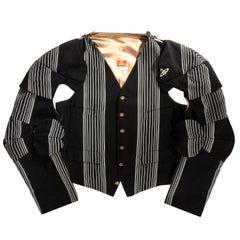 Vivienne Westwood black striped wool Armour Jacket, fw 1989