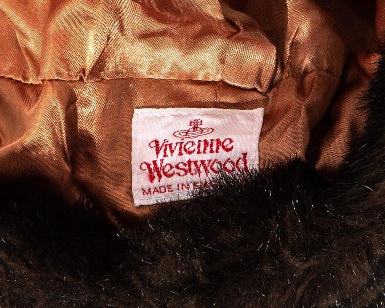 Vivienne Westwood black velvet and faux fur crown, fw 1987 For Sale 2
