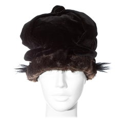 Vivienne Westwood black velvet and faux fur crown, fw 1987