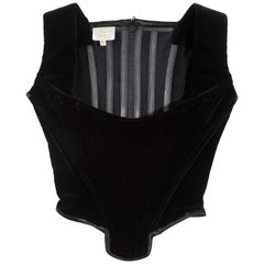 Vivienne Westwood black velvet corset, fw 1995