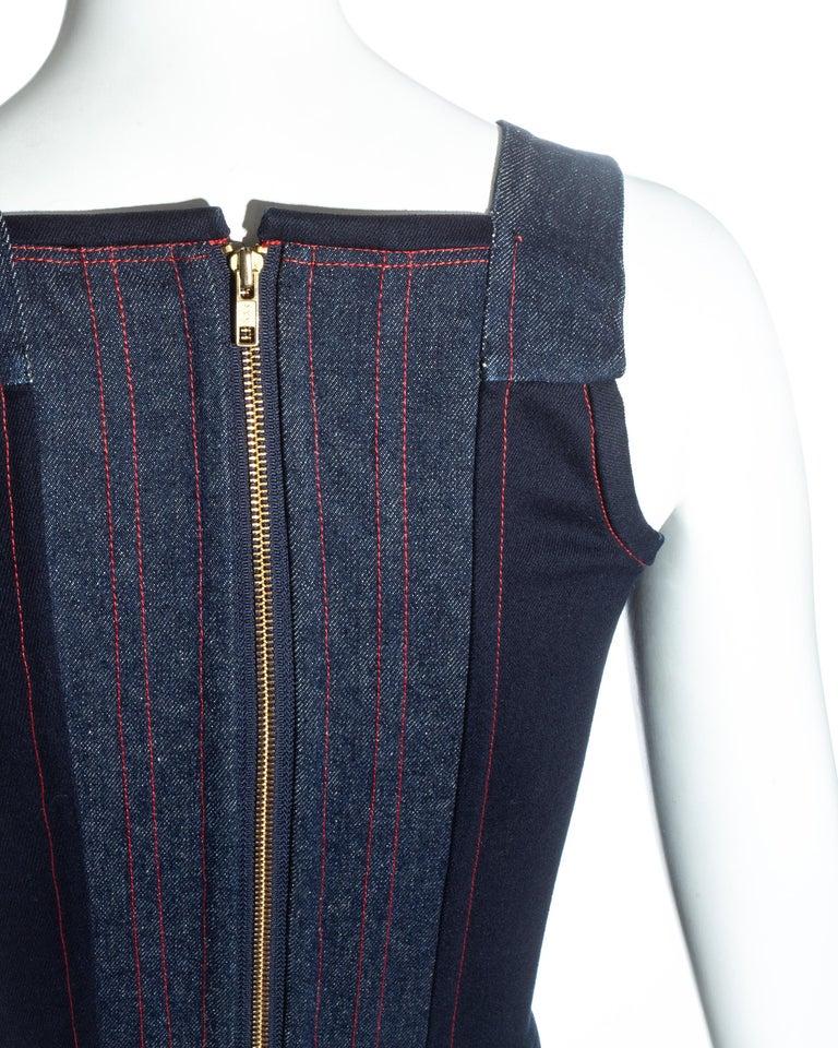 Vivienne Westwood blue denim 'Always on Camera' lips corset, fw 1992 For Sale 2