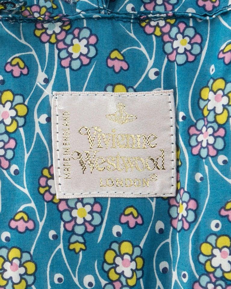 Vivienne Westwood blue floral cotton bustle and briefs set, ca. 1995  For Sale 5