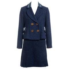 Vivienne Westwood blue tweed skirt suit, fw 1994