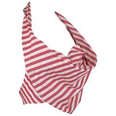 Vivienne Westwood Candy Stripe Halter top, c. 90's, Size 4 US