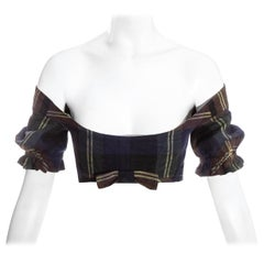 Vivienne Westwood cotton checked cropped corset top, c. 1990s
