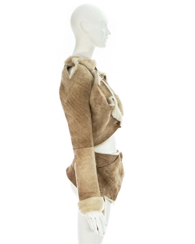Vivienne Westwood cream shearling sheepskin deconstructed jacket, ca. 1999 For Sale 2
