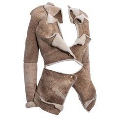Vivienne Westwood cream sheepskin jacket, fw 1999