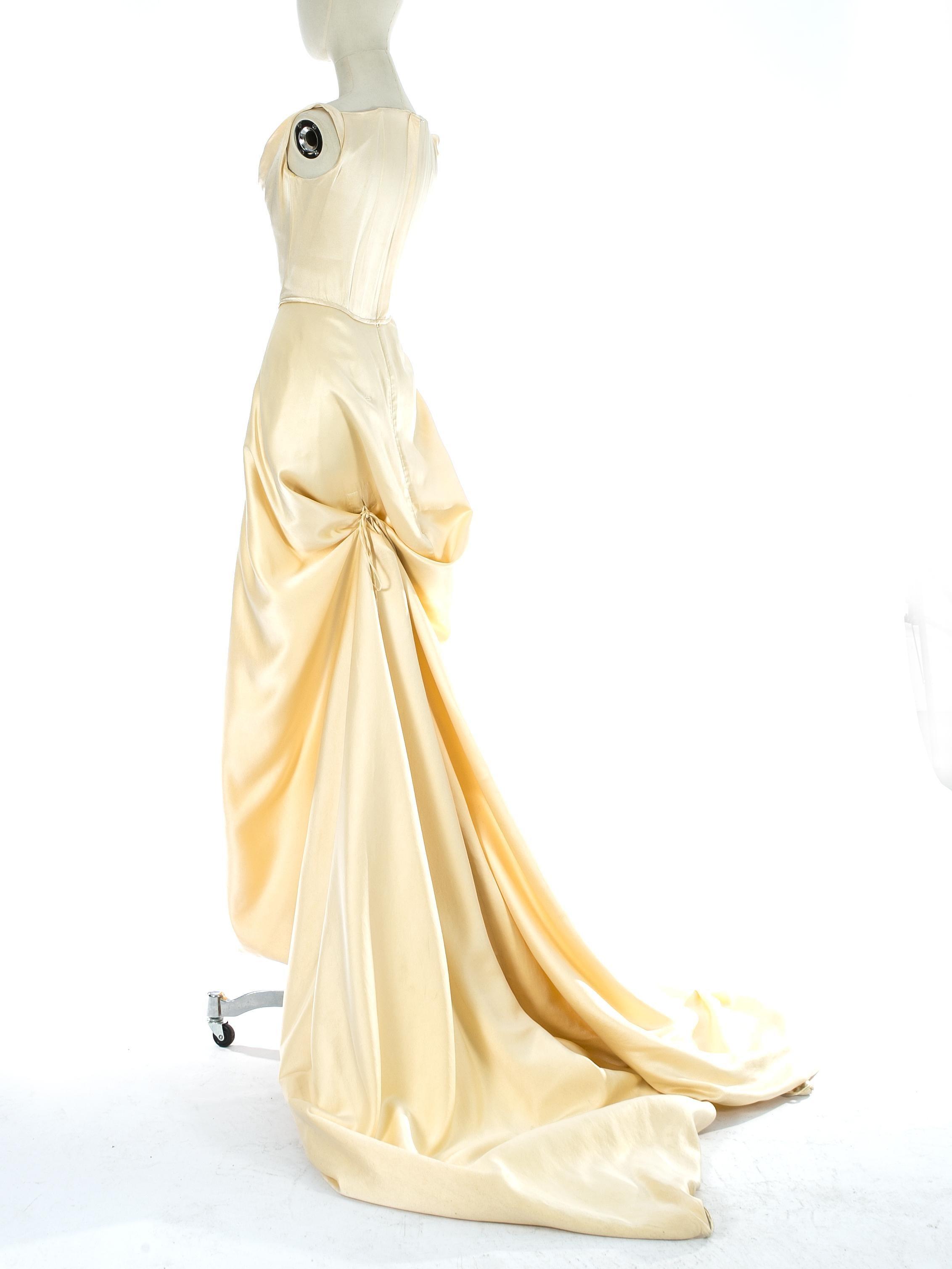 99da92e55ee Vivienne Westwood cream silk corset and draped skirt wedding ensemble