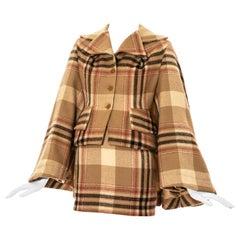 Vivienne Westwood cream tartan tweed skirt suit, fw 1994