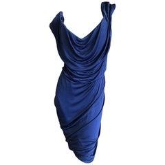 Vivienne Westwood Elegant Dark Blue Cocktail Dress with Built In Corset Sz XL