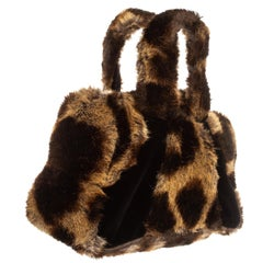 Vivienne Westwood faux fur animal print hand bag, fw 1991