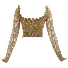 Vivienne Westwood gold crochet lurex corset, fw 1993