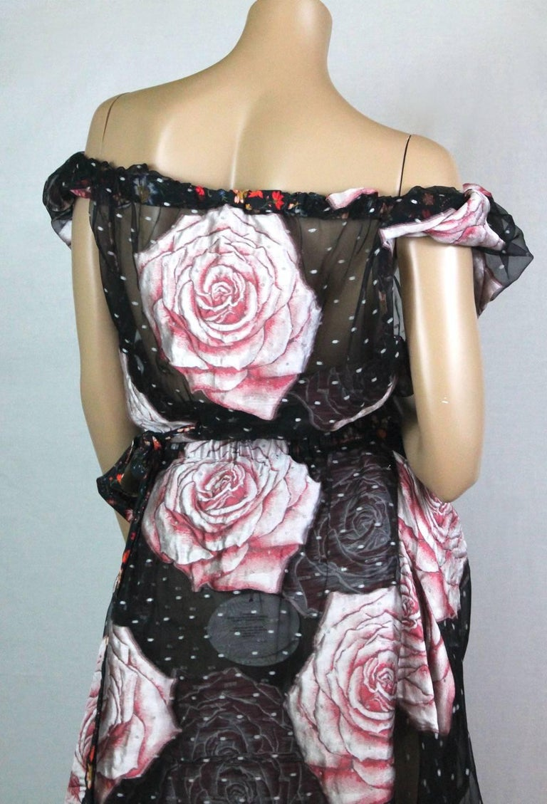 Women's or Men's Vivienne Westwood Gold Label Glenn Dress with Rose Print, A / W 2015  For Sale