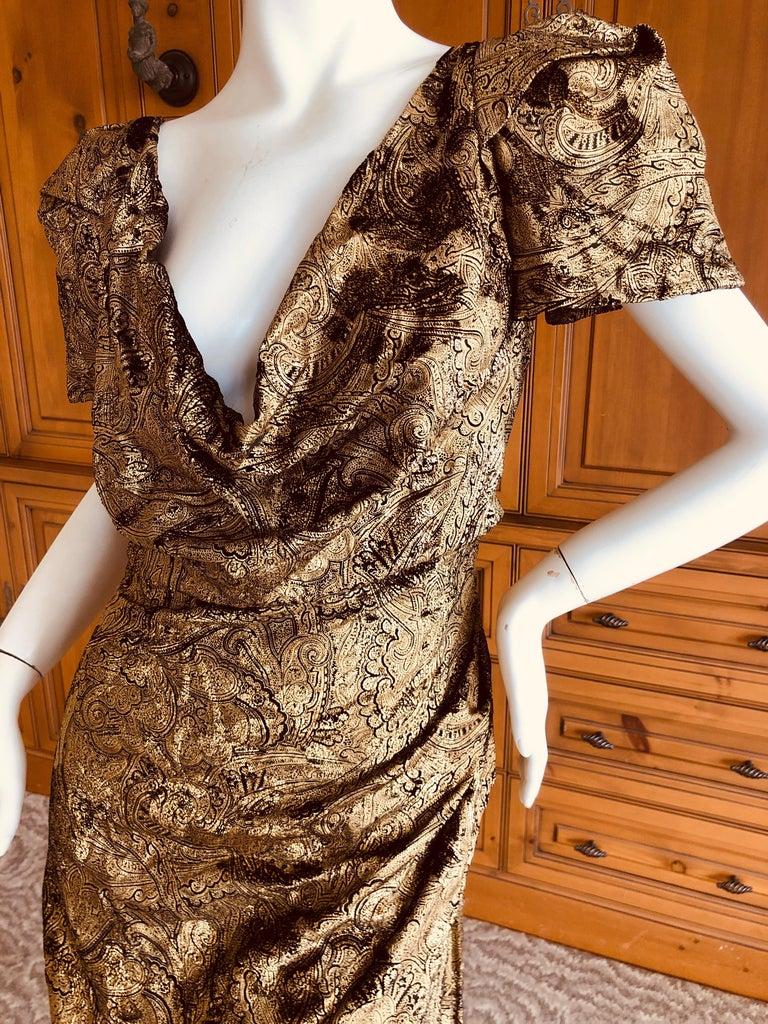 Brown Vivienne Westwood Gold Label Gold Devore Velvet