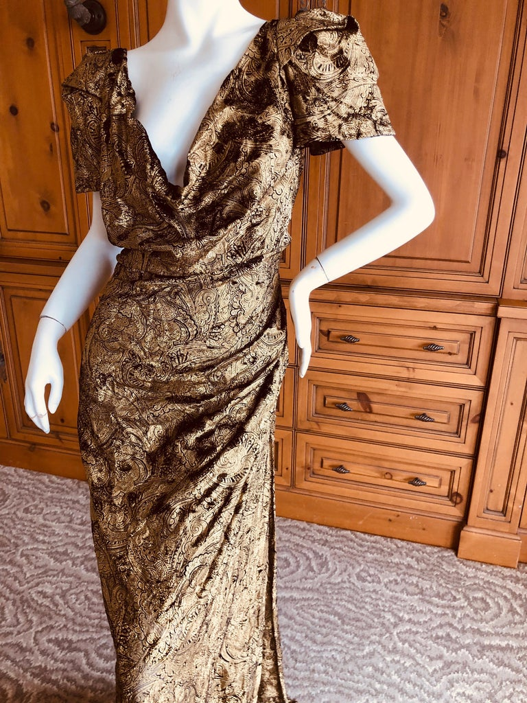 Women's Vivienne Westwood Gold Label Gold Devore Velvet