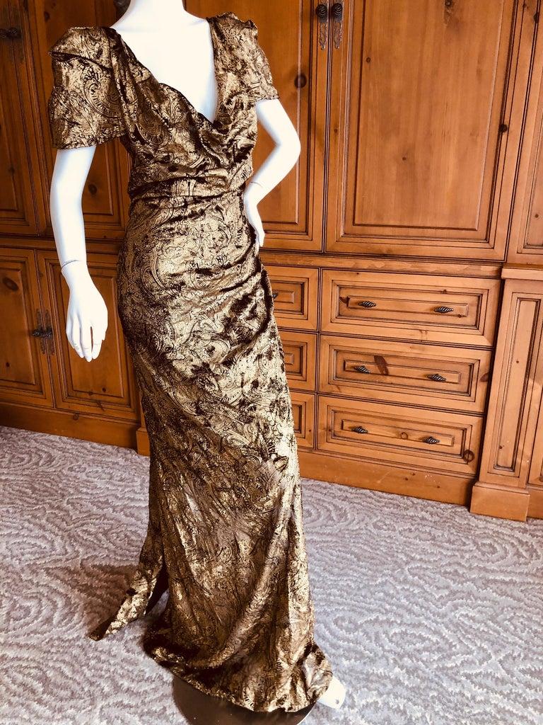 Vivienne Westwood Gold Label Gold Devore Velvet